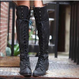 Jeffrey Campbell joe lace up boots